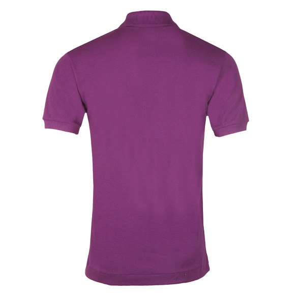Lacoste Mens Purple L1212 Plain Polo Shirt main image
