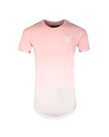 Sik Silk Mens Pink Curve Hem Faded Tee