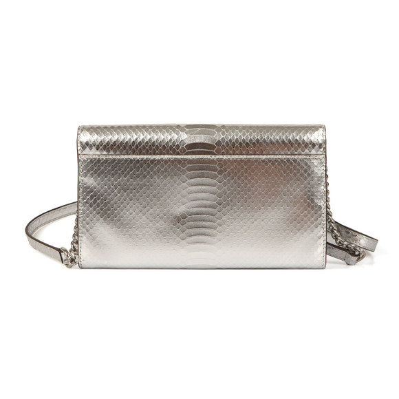 Michael Kors Womens Silver Mott XL Clutch Bag main image