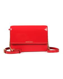 Michael Kors Womens Bright Red Patent Daniela Large Crossbody