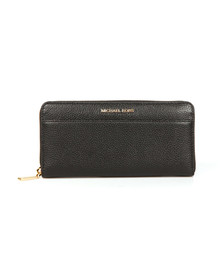 Michael Kors Womens Black Mercer Pocket Zip Around Continental Purse