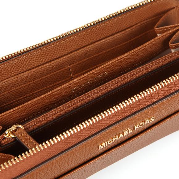 Michael Kors Womens Brown Mercer Pocket Zip Around Continental Purse main image