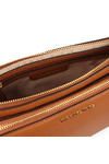 Michael Kors Womens Brown Adele Double Zip Crossbody
