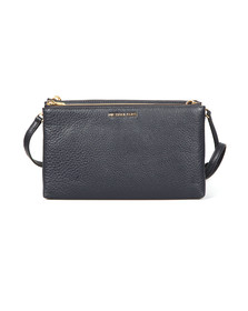 Michael Kors Womens Blue Adele Double Zip Crossbody