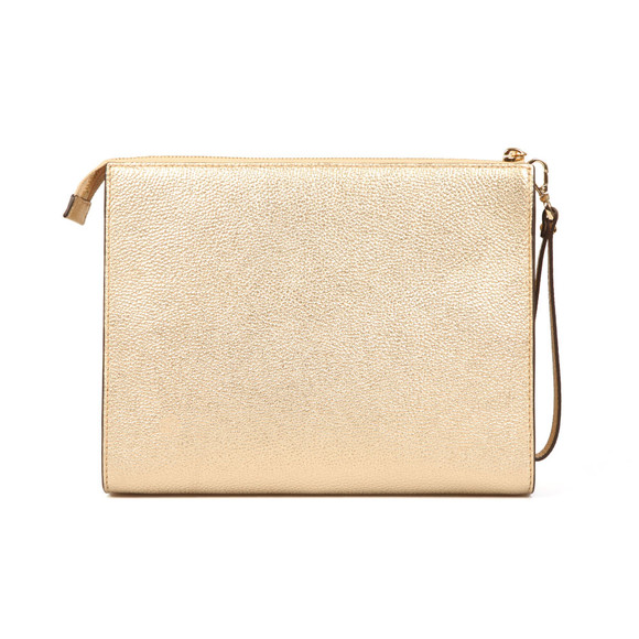 Michael Kors Womens Gold Mercer Large Box Travel Pouch main image