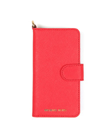 Michael Kors Womens Red Saffiano Leather Folio Phone Case