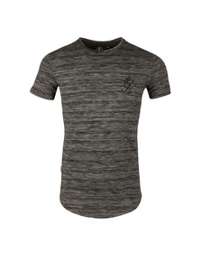 Gym king Mens Black SS Space Dye T-Shirt