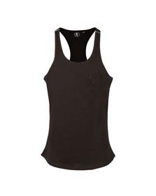 Gym king Mens Black Stringer Vest