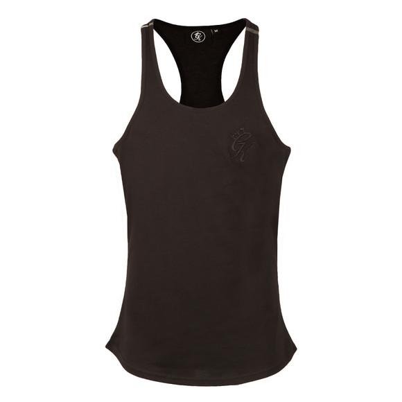Gym king Mens Black Stringer Vest  main image