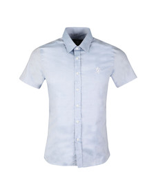 Gym King Mens Blue SS Oxford Shirt