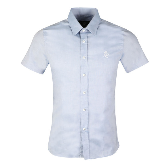 Gym King Mens Blue SS Oxford Shirt main image