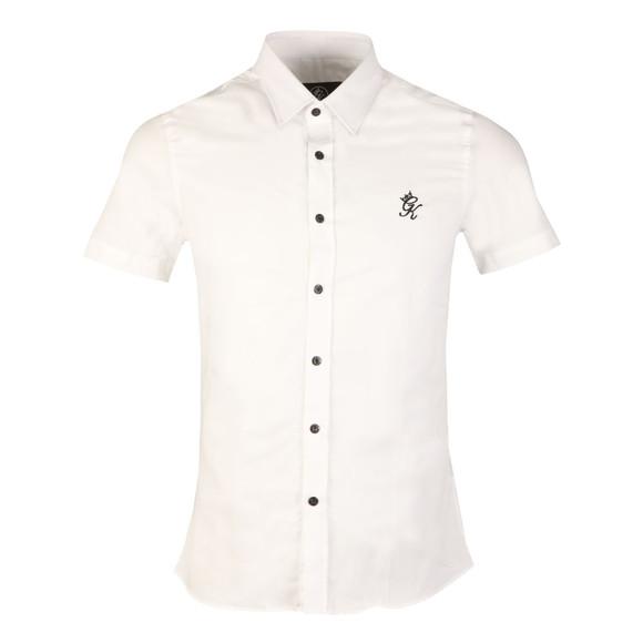 Gym king Mens White SS Oxford Shirt main image