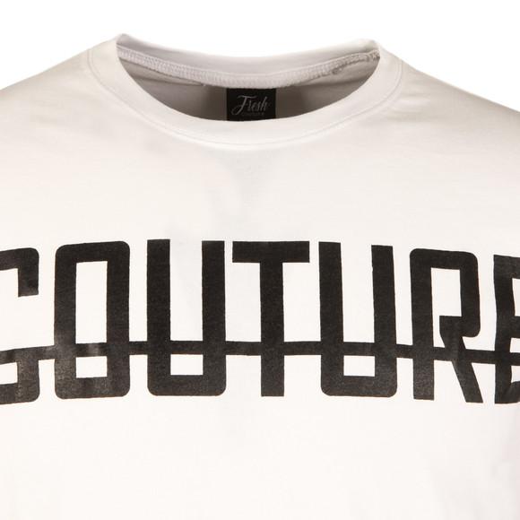 Fresh Couture Mens White Long Sleeve Logo T Shirt main image