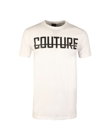 Fresh Couture Mens White Large Logo T Shirt