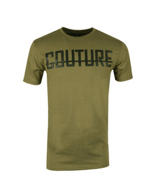 Fresh Couture Mens Green Large Logo T Shirt