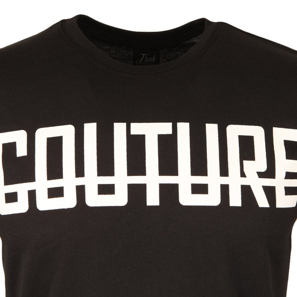 Fresh Couture Mens Black Large Logo T Shirt main image