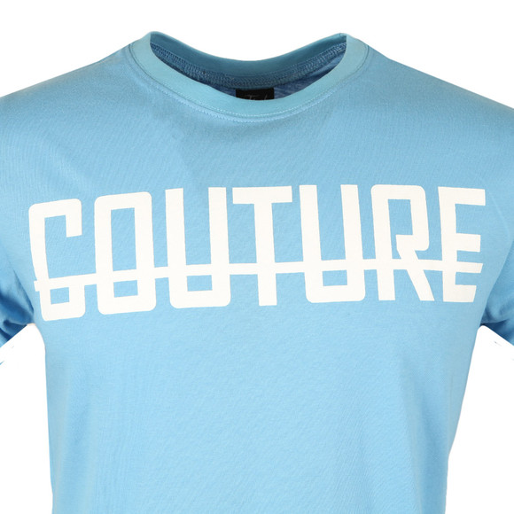 Fresh Couture Mens Blue Large Logo T Shirt main image