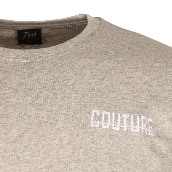 Fresh Couture Mens Grey Small Logo T Shirt main image