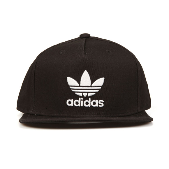 Adidas Originals Mens Black Trefoil Snap back Cap main image