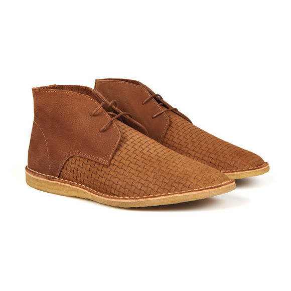 Pretty Green Mens Brown Gresham Weave Boot main image