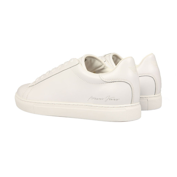 Armani Jeans Mens White Signature Trainer main image