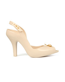 Vivienne Westwood Anglomania X Melissa Womens Off-white Pearl Orb Lady Dragon 18 Heel
