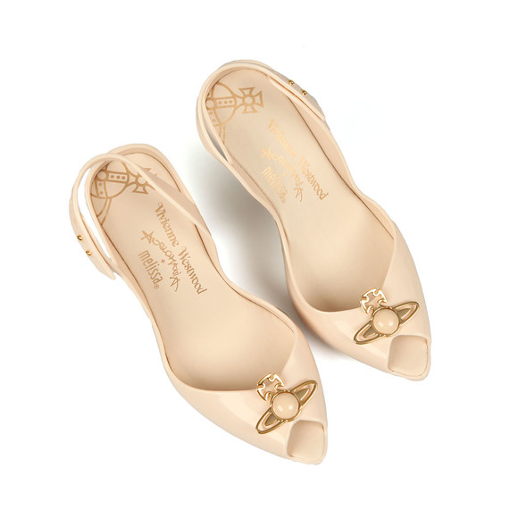 Vivienne Westwood Anglomania X Melissa Womens Off-white Pearl Orb Lady Dragon 18 Heel main image