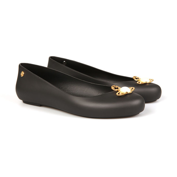 Vivienne Westwood Anglomania X Melissa Womens Black Space Love 18 Pearl Orb Shoe main image