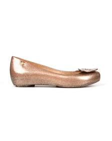 Vivienne Westwood Anglomania X Melissa Womens Gold Ultragirl 18 Sunkiss Love Shoe