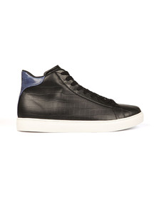 Armani Jeans Mens Black Croc Hi Top