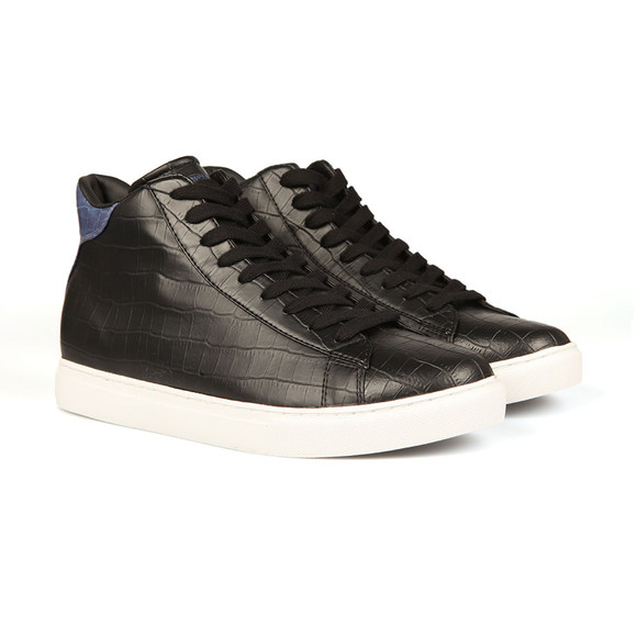 Armani Jeans Mens Black Croc Hi Top main image
