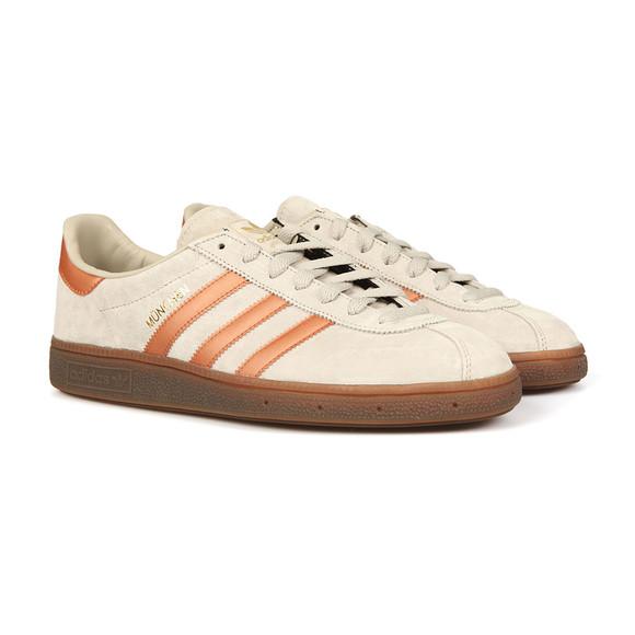 Adidas Originals Mens Beige Munchen Trainer main image