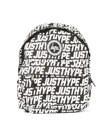 Hype Unisex Black Sporting Just Hype Backpack