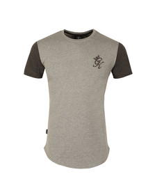 Gym king Mens Grey James Contrast T Shirt
