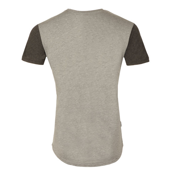 Gym king Mens Grey James Contrast T Shirt main image