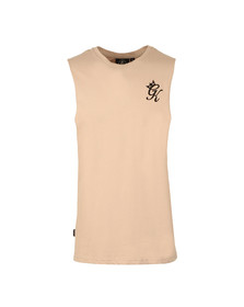 Gym king Mens Brown Stern Cut Off T Shirt