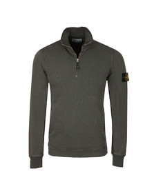 Stone Island Mens Grey Washed Half Zip Sweat
