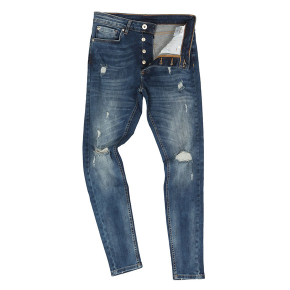 Kings Will Dream Mens Blue Rumper Hipster Ripped Jean main image