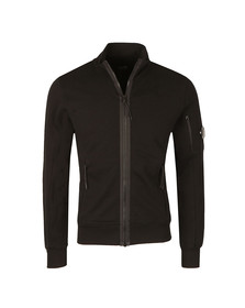 CP Company Mens Black Full Zip Sweat
