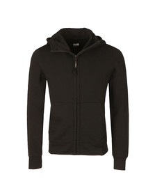 CP Company Mens Black Full Zip Goggle Hoody