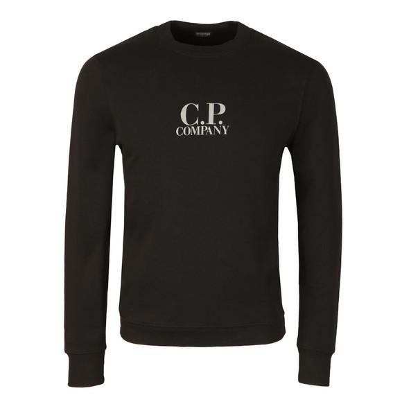 C.P. Company Mens Black Printed Logo Crew Sweatshirt main image
