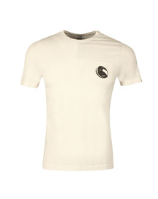 CP Company Mens Off-white Viewfinder Pocket T Shirt