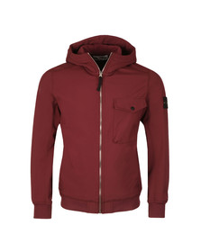 Stone Island Mens Red Soft Shell R Hooded Jacket