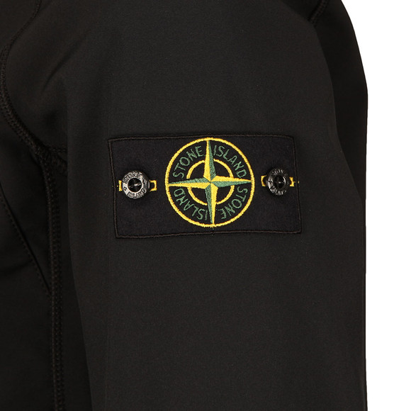 Stone Island Mens Black Soft Shell R Hooded Jacket main image