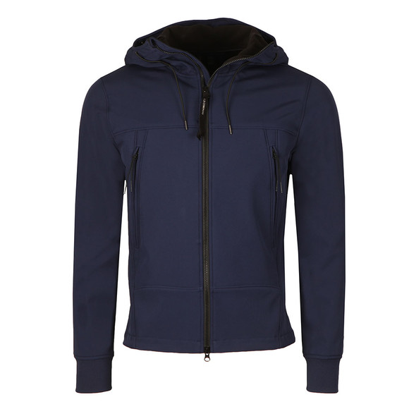 CP Company Mens Blue Soft Shell  Goggle Jacket main image