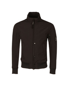 CP Company Mens Black Soft Shell Harrington Jacket