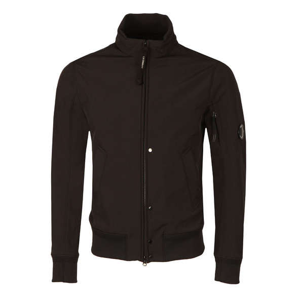 C.P. Company Mens Black Soft Shell Harrington Jacket main image