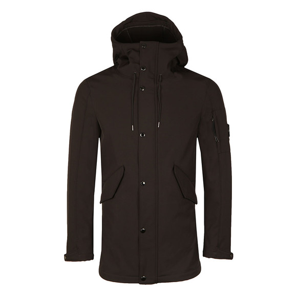 CP Company Mens Black Soft Shell Parka main image