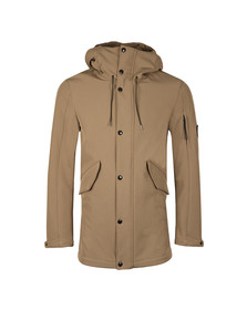 CP Company Mens Beige Soft Shell Parka