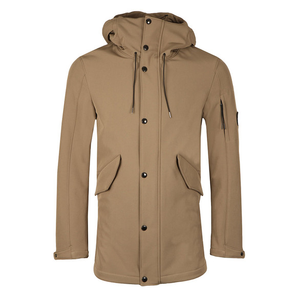 CP Company Mens Beige Soft Shell Parka main image